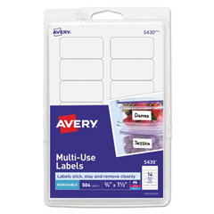 AVE05430 - Avery® Removable Self-Adhesive Multi-Use ID Labels
