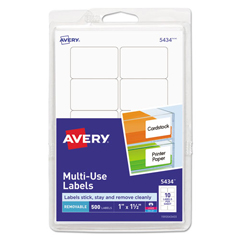 AVE05434 - Avery® Removable Self-Adhesive Multi-Use ID Labels