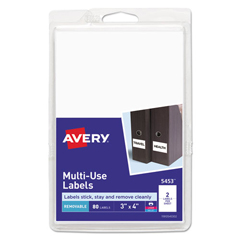 AVE05453 - Avery® Removable Self-Adhesive Multi-Use ID Labels