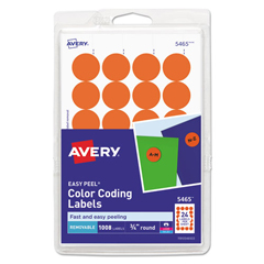 AVE05465 - Avery® Print or Write Removable Color-Coding Labels