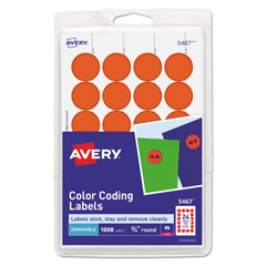 AVE05467 - Avery® Print or Write Removable Color-Coding Labels