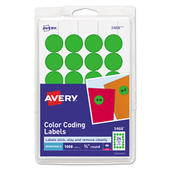 AVE05468 - Avery® Print or Write Removable Color-Coding Labels