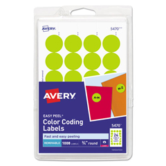 AVE05470 - Avery® Print or Write Removable Color-Coding Labels