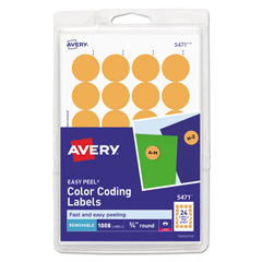 AVE05471 - Avery® Print or Write Removable Color-Coding Labels