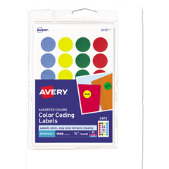 AVE05472 - Avery® Print or Write Removable Color-Coding Labels