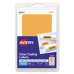 AVE05477 - Avery® Print or Write Removable Color-Coding Labels