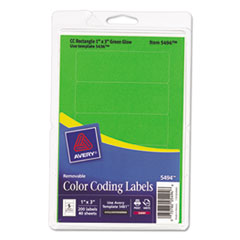 AVE05494 - Avery® Print or Write Removable Color-Coding Labels