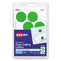 AVE05498 - Avery® Print or Write Removable Color-Coding Labels