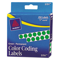 AVE05791 - Avery® Permanent Self-Adhesive Round Color-Coding Labels