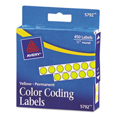 AVE05792 - Avery® Permanent Self-Adhesive Round Color-Coding Labels