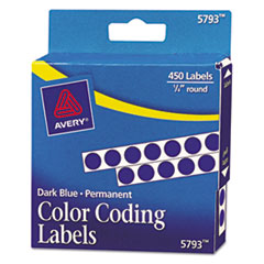 AVE05793 - Avery® Permanent Self-Adhesive Round Color-Coding Labels