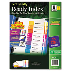 AVE11081 - Avery® EcoFriendly Ready Index® Table of Contents Dividers