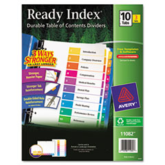 AVE11082 - Avery® EcoFriendly Ready Index® Table of Contents Dividers