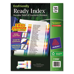 AVE11084 - Avery® EcoFriendly Ready Index® Table of Contents Dividers