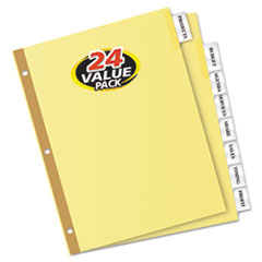 AVE11115 - Avery® Double Sided Reinforced WorkSaver® Big Tab™ Insertable Paper Dividers