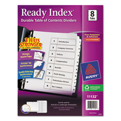 AVE11132 - Avery® Ready Index® Classic Black & White Table of Contents Dividers