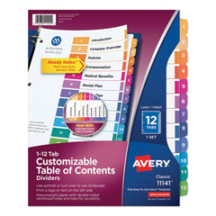 AVE11141 - Avery® Ready Index® Contemporary Multicolor Table of Contents Dividers