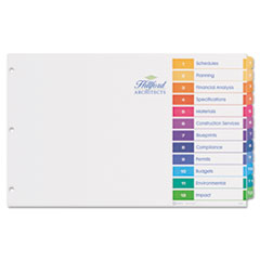 AVE11149 - Avery® Ready Index® Table of Contents Dividers with Multicolor Tabs