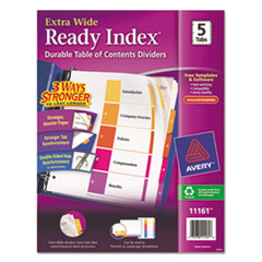AVE11161 - Avery® Ready Index® ExtraWide™ Multicolor Dividers