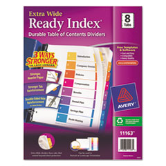 AVE11163 - Avery® Ready Index® ExtraWide™ Multicolor Dividers