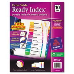 AVE11165 - Avery® Ready Index® ExtraWide™ Multicolor Dividers