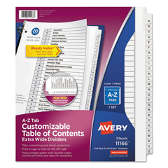 AVE11166 - Avery® Ready Index® Customizable Table of Contents Dividers