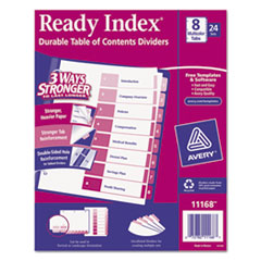 AVE11168 - Avery® Ready Index® Contemporary Multicolor Table of Contents Divider Sets Uncollated in Bulk Packs