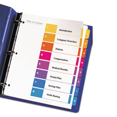 AVE11186 - Avery® Ready Index® Contemporary Multicolor Table of Contents Dividers