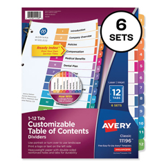 AVE11196 - Avery® Ready Index® Contemporary Multicolor Table of Contents Dividers