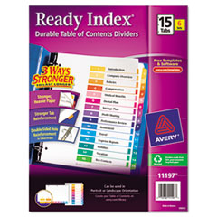 AVE11197 - Avery® Ready Index® Contemporary Multicolor Table of Contents Dividers