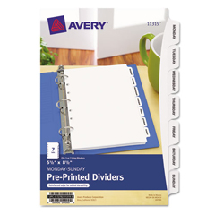 AVE11292 - Avery® Style Edge™ Plastic Insertable Dividers with Pocket