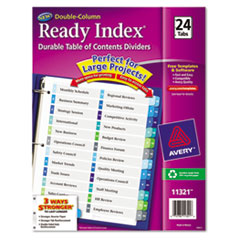 AVE11321 - Avery® Ready Index® Double-Column Table of Contents Dividers