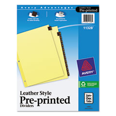 AVE11328 - Avery® Reinforced Preprinted Red Leather Tab Dividers