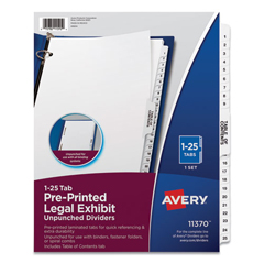 AVE11370 - Avery® Avery-Style Legal Exhibit Side Tab Dividers