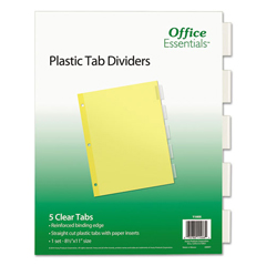 AVE11466 - Office Essentials® Plastic Insertable Dividers