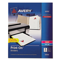 AVE11511 - Avery® Print-On™ Dividers
