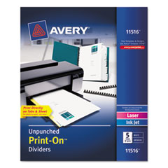 AVE11516 - Avery® Print-On™ Dividers