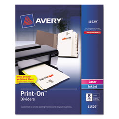 AVE11529 - Avery® Print-On™ Dividers