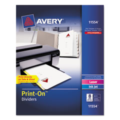 AVE11554 - Avery® Print-On™ Dividers