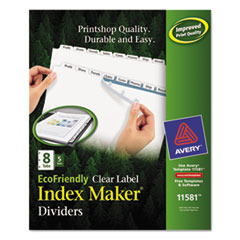 AVE11581 - Avery® EcoFriendly Index Maker® Label Dividers, Clear