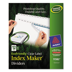 AVE11582 - Avery® EcoFriendly Index Maker® Label Dividers, Clear