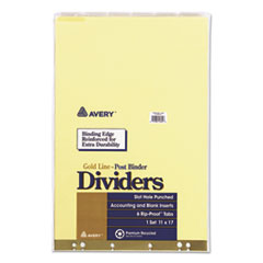 AVE11644 - Avery® Post Binder Insertable Tab Dividers