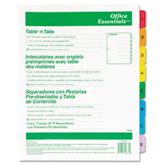 AVE11669 - Avery® Office Essentials™ Table N Tabs™ Dividers