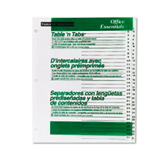AVE11680 - Avery® Office Essentials™ Table N Tabs™ Dividers