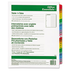 AVE11681 - Avery® Office Essentials™ Table N Tabs™ Dividers