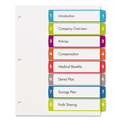 AVE11841 - Avery® Ready Index® Customizable Table of Contents Multicolor Dividers