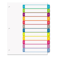 AVE11843 - Avery® Ready Index® Customizable Table of Contents Multicolor Dividers