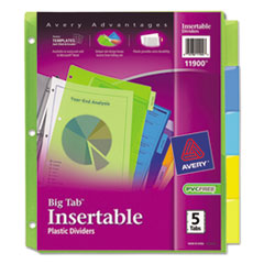 AVE11900 - Avery® Big Tab™ Insertable Plastic Dividers