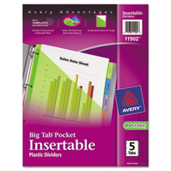 AVE11902 - Avery® Big Tab™ Pocket Insertable Plastic Dividers