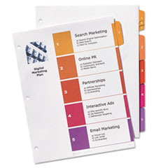 AVE13154 - Avery® Ready Index® Customizable Table of Contents Multicolor Dividers with Subdividing Tabs